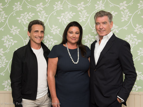"Pierce Brosnan and the ""Poisoning Paradise"" director and executive producer"