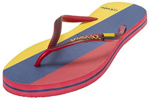 Samba Sol Women's Countries Collection Flip Flops - Colombia-Samba Sol