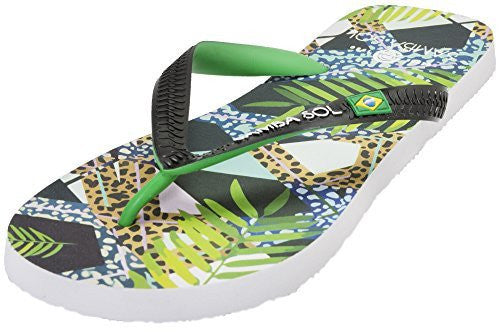 Samba Sol Men's Beach Collection Flip Flops - Jungle-Samba Sol