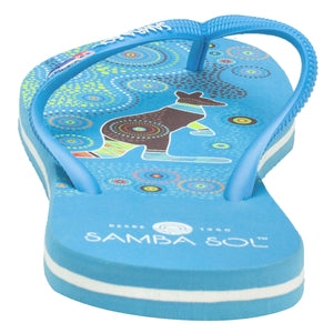 Samba Sol Women's Countries Collection Flip Flops - Australia Blue-Samba Sol