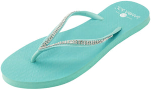 Women's Crystal Collection Flip Flops - Azul Crystal Strings