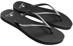 Women's Solids Collection Flip Flops - Black
