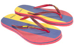 Samba Sol Women's Countries Collection Flip Flops - Colombia