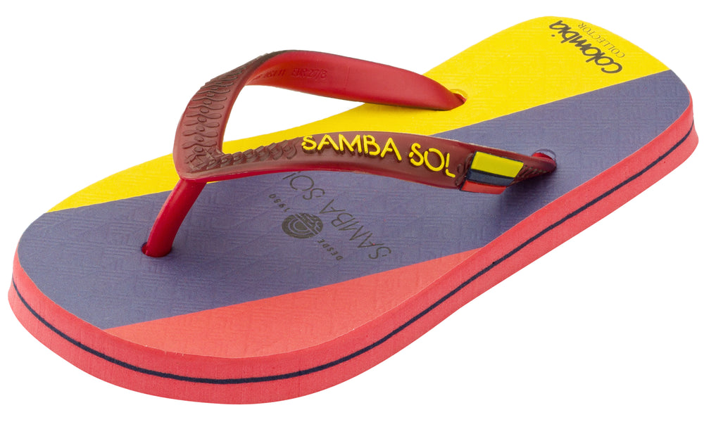 Kid's Flag Collection Flip Flops - Colombia