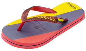 Samba Sol Kid's Countries Collection Flip Flops - Colombia-Samba Sol