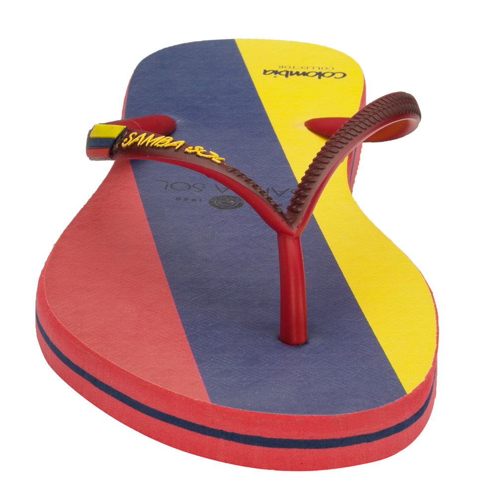 Women's Flag Collection Flip Flops - Colombia