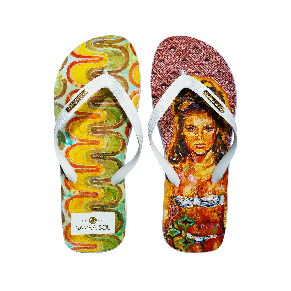Samba Sol Men's YoungArts Collection Flip Flops - Caley Buck