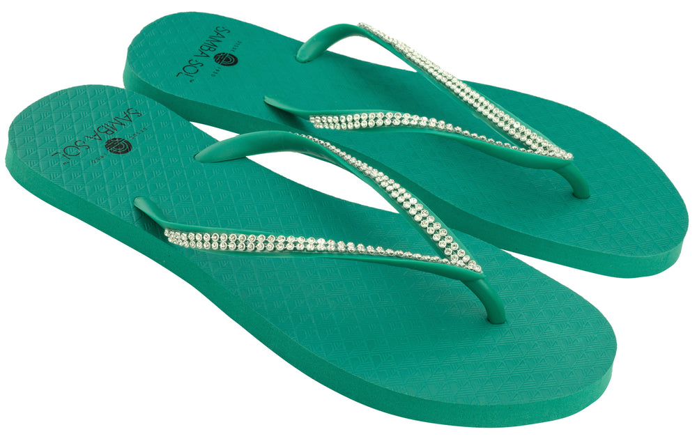 Women's Crystal Collection Flip Flops - Erva Doce