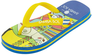 Samba Sol Kid's Countries Collection Flip Flops - El Salvador-Samba Sol