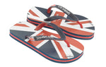 Samba Sol Kid's Countries Collection Flip Flops - England