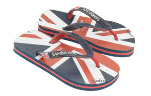 Samba Sol Kid's Countries Collection Flip Flops - England-Samba Sol