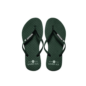 Samba Sol Women's Crystal Collection Flip Flops - Emerald Crystal