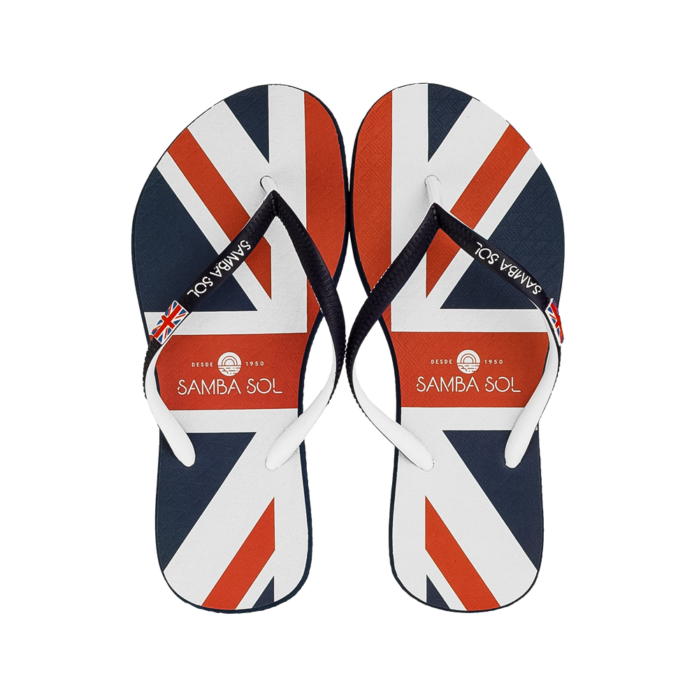 Samba Sol Women's Countries Collection Flip Flops - England