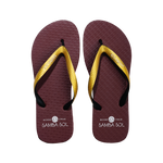 Men's Beach Collection Flip Flops - FSU Florida State Gold/Black/Burgundy