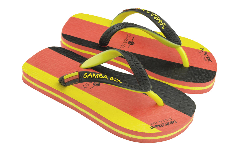 Samba Sol Kid's Countries Collection Flip Flops - Germany