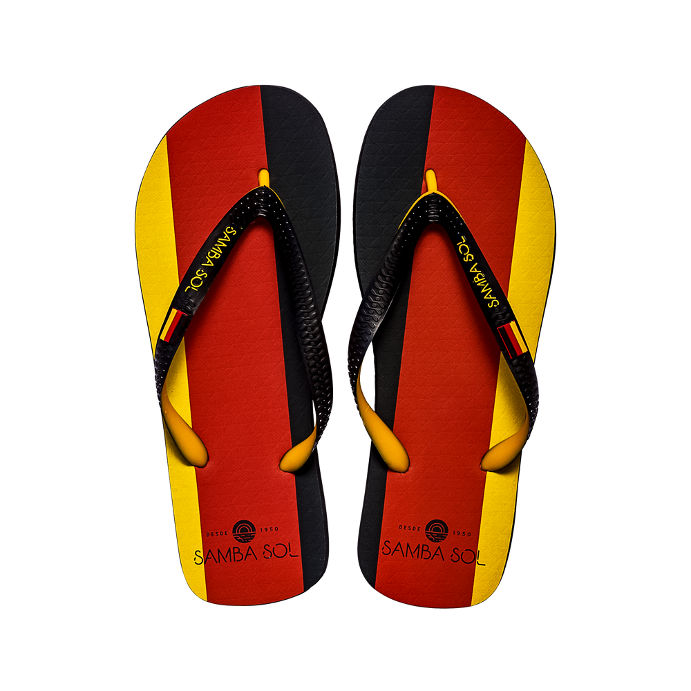 Samba Sol Men's Countries Collection Flip Flops - Germany-Samba Sol