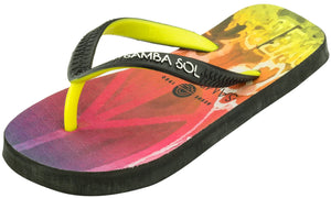 Samba Sol Kid's Beach Collection Flip Flops- Hippie Peace-Samba Sol