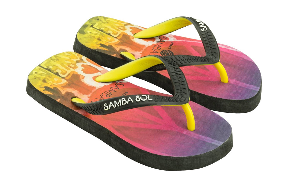 Samba Sol Kid's Beach Collection Flip Flops- Hippie Peace