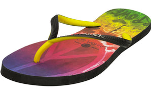 Samba Sol Women's Beach Collection Flip Flops - Hippie Peace-Samba Sol