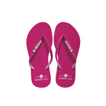 Samba Sol Women's Crystal Collection Flip Flops - Hot Pink Crystal