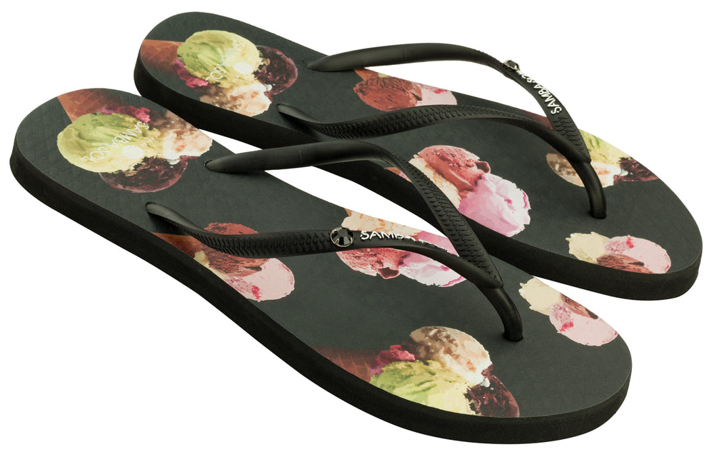 Women's Crystal Collection Flip Flops - Ice Cream Crystal