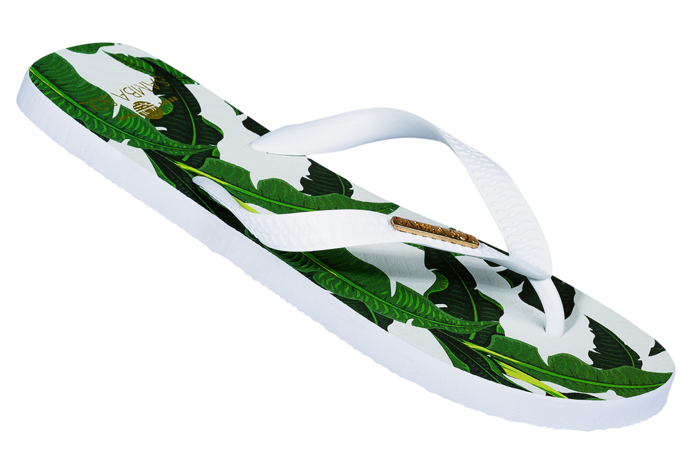 Samba Sol Men's Fashion Collection Flip Flops - Banana Leaf