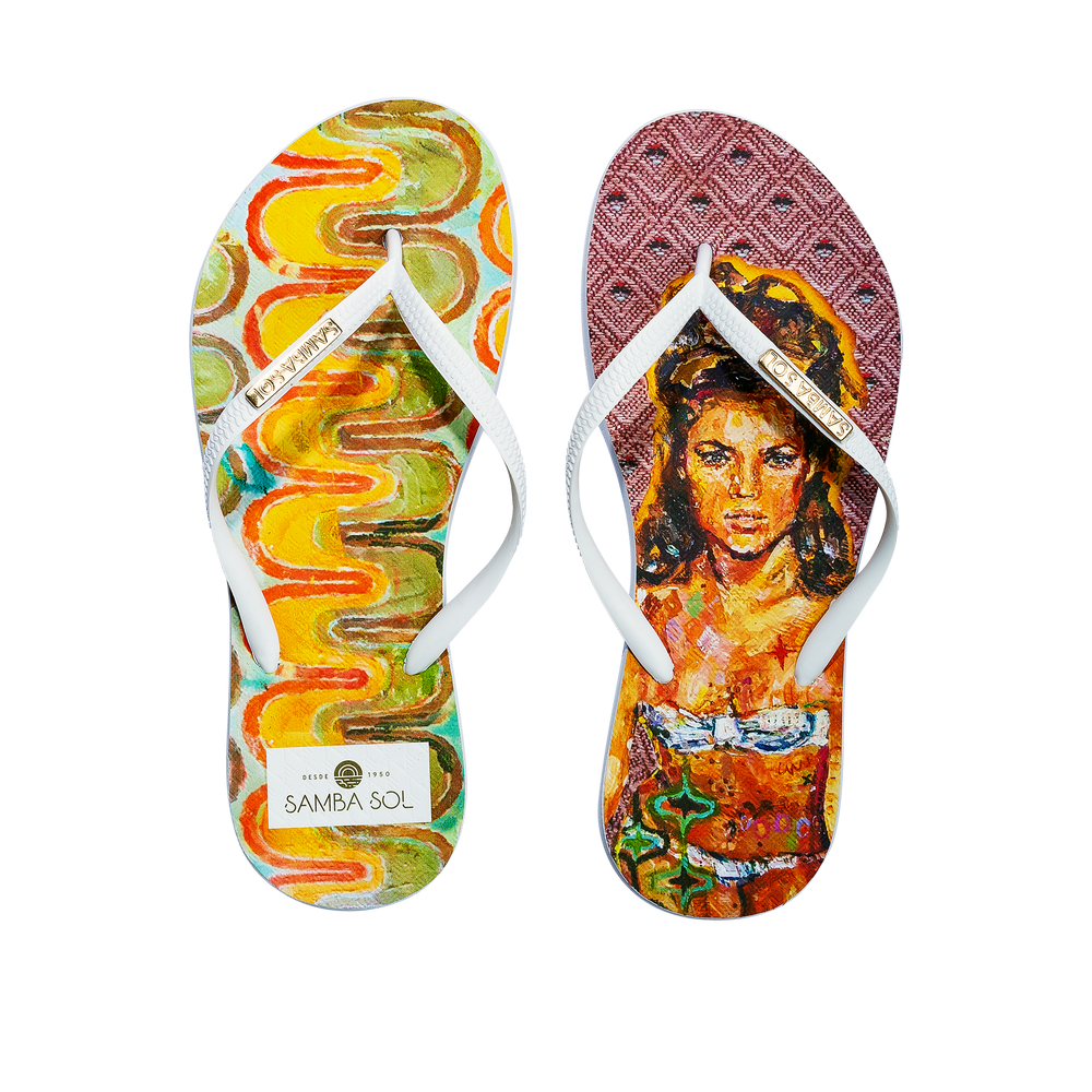 Samba Sol Women's YoungArts Collection Flip Flops - Caley Buck