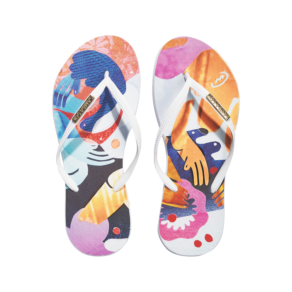 YoungArts Women Collection Flip Flops - Nadia Wolff