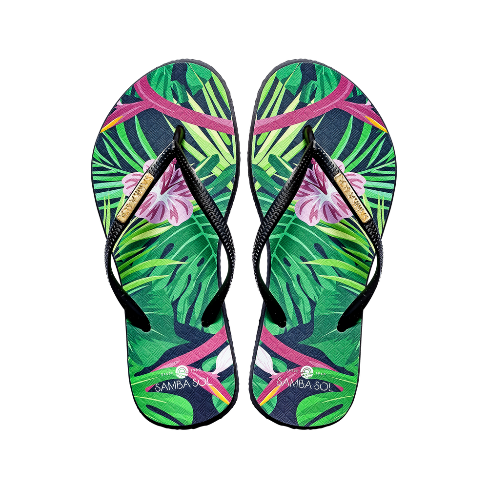 Samba Sol Women's Fashion Collection Flip Flops - Tropical
