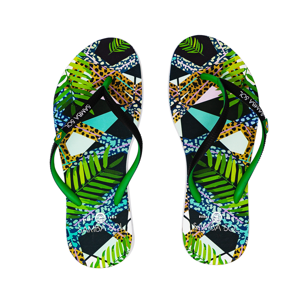 Samba Sol Women's Beach Collection Flip Flops - Jungle