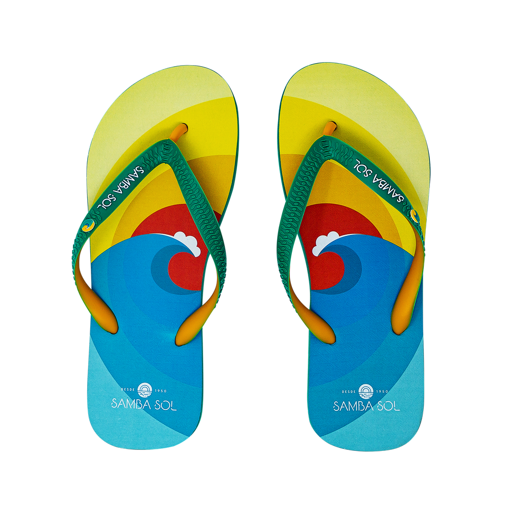 Samba Sol Men's Beach Collection Flip Flops - Surf