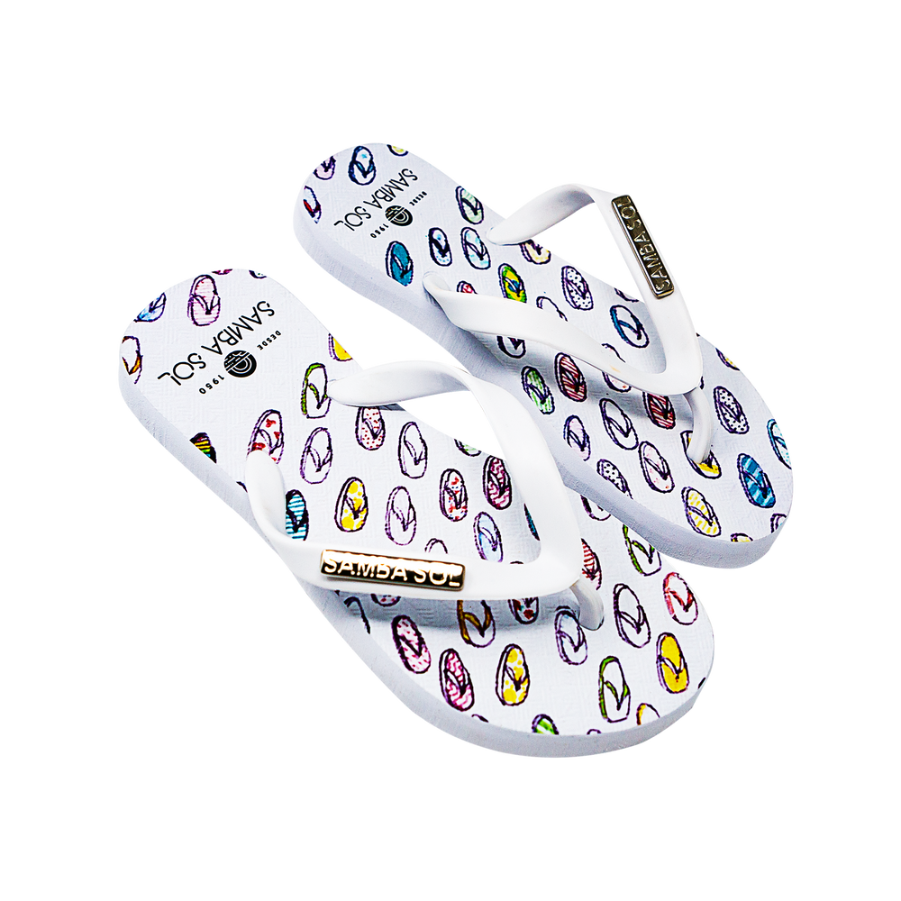 Samba Sol Kid's YoungArts Collection Flip Flops - Isabela Dos Santos-Samba Sol
