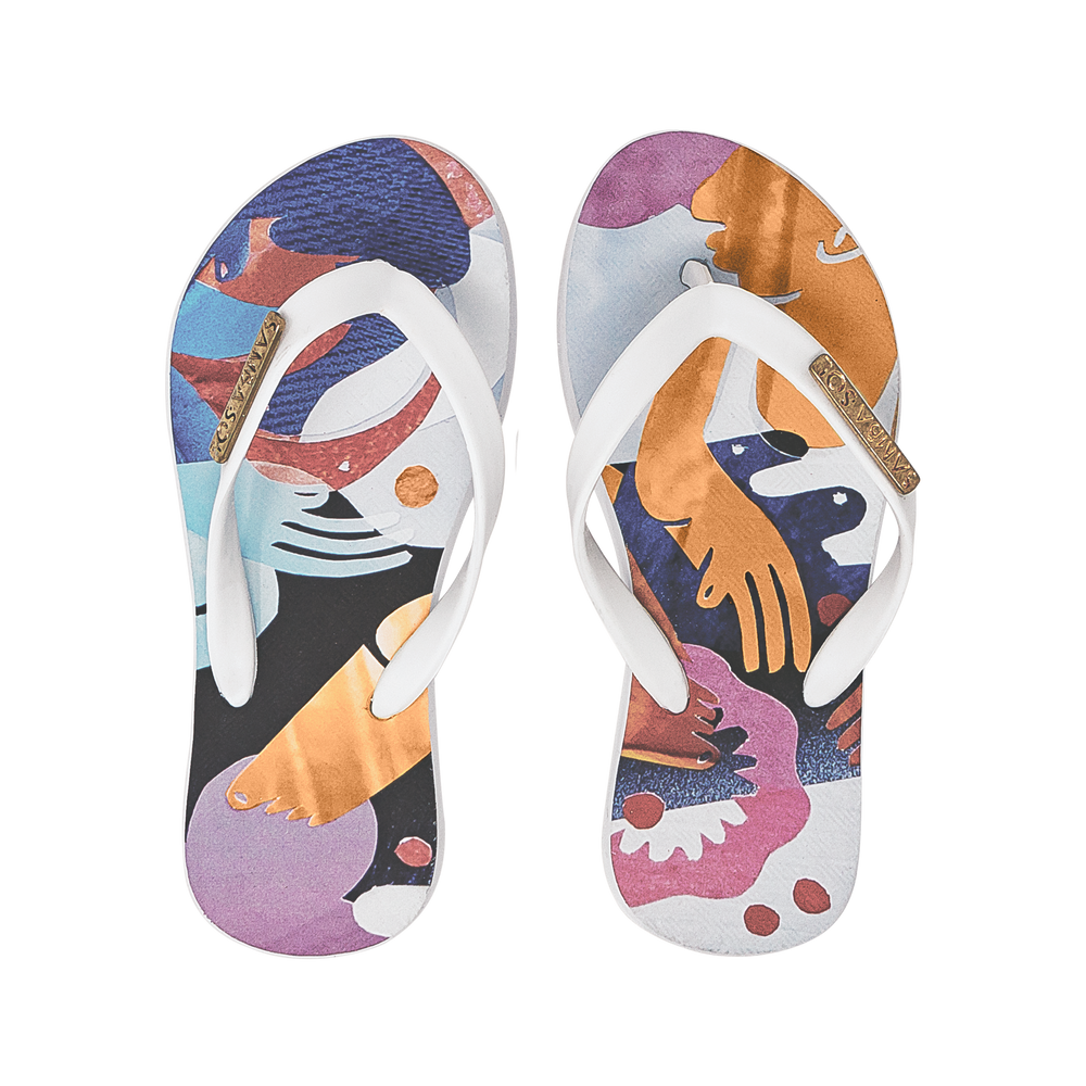 Samba Sol Kid's YoungArts Collection Flip Flops - Nadia Wolff