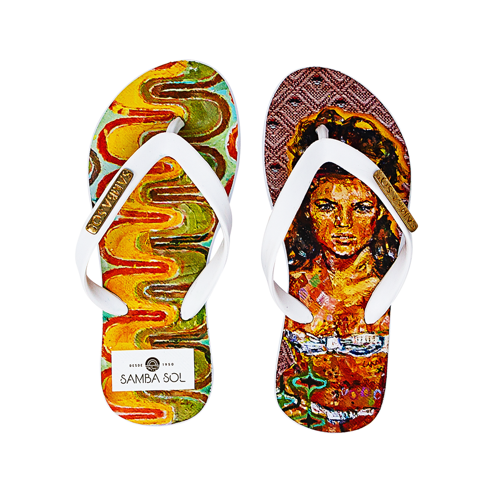 Samba Sol Kid's YoungArts Collection Flip Flops - Caley Buck