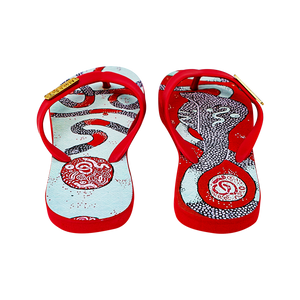 Samba Sol Kid's YoungArts Collection Flip Flops - Panteha Abareshi-Samba Sol