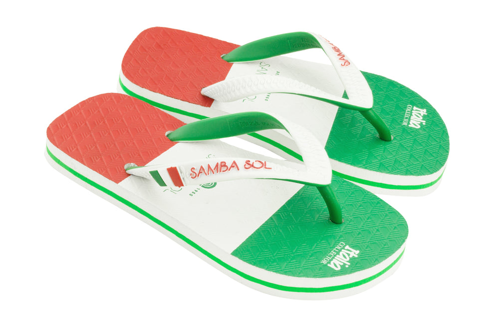 Kid's Flag Collection Flip Flops - Italy