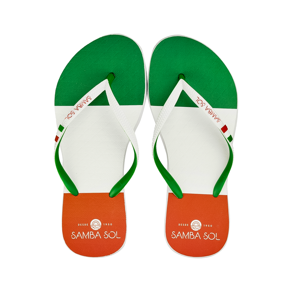 Samba Sol Women's Countries Collection Flip Flops - Italy