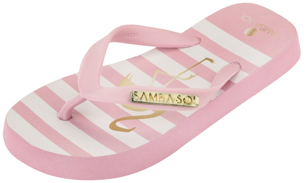 Samba Sol Kid's Fashion Collection Flip Flops - Flamingo-Samba Sol