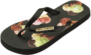 Samba Sol Kid's Fashion Collection Flip Flops - Ice Cream-Samba Sol