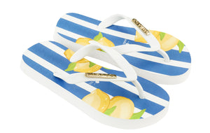 Samba Sol Kid's Fashion Collection Flip Flops - Capri Lemon-Samba Sol