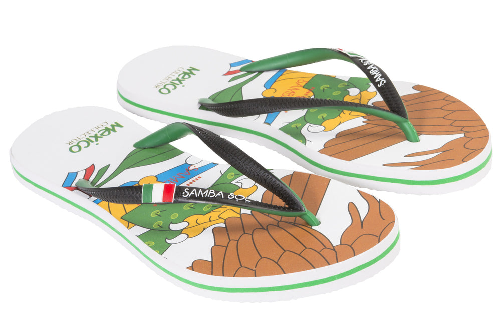 Samba Sol Women's Countries Collection Flip Flops - Mexico