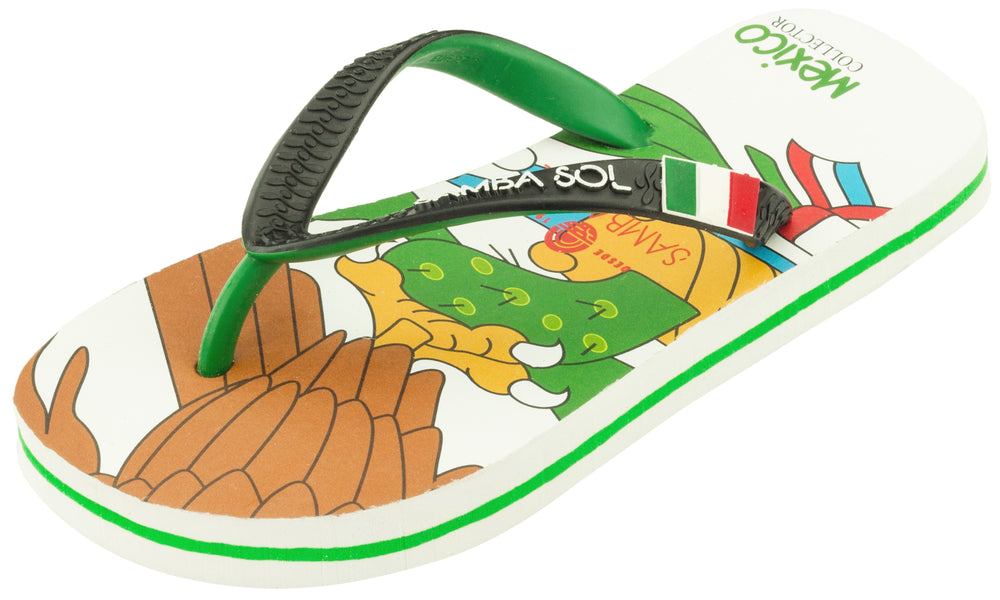 Kid's Flag Collection Flip Flops - Mexico