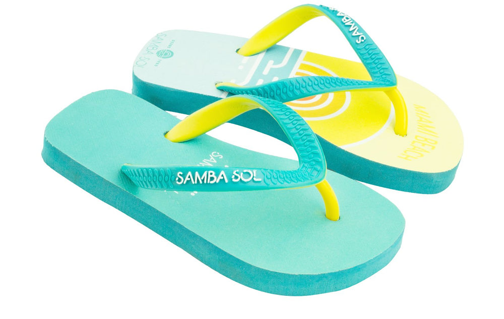 Kid's Beach Collection Flip Flops - Miami Beach Sunset