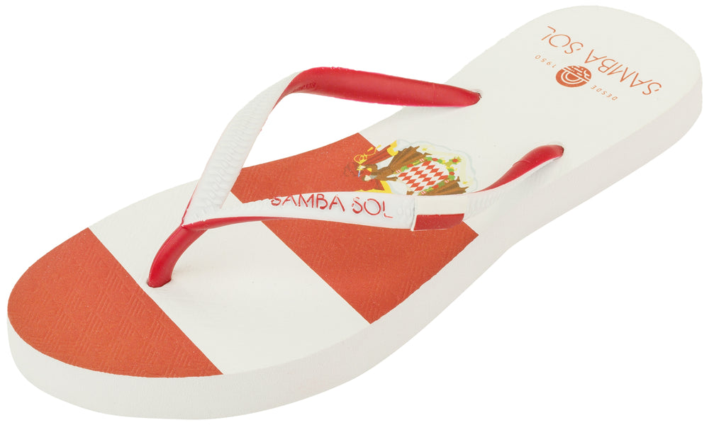 Samba Sol Women's Countries Collection Flip Flops - Monte Carlo-Samba Sol