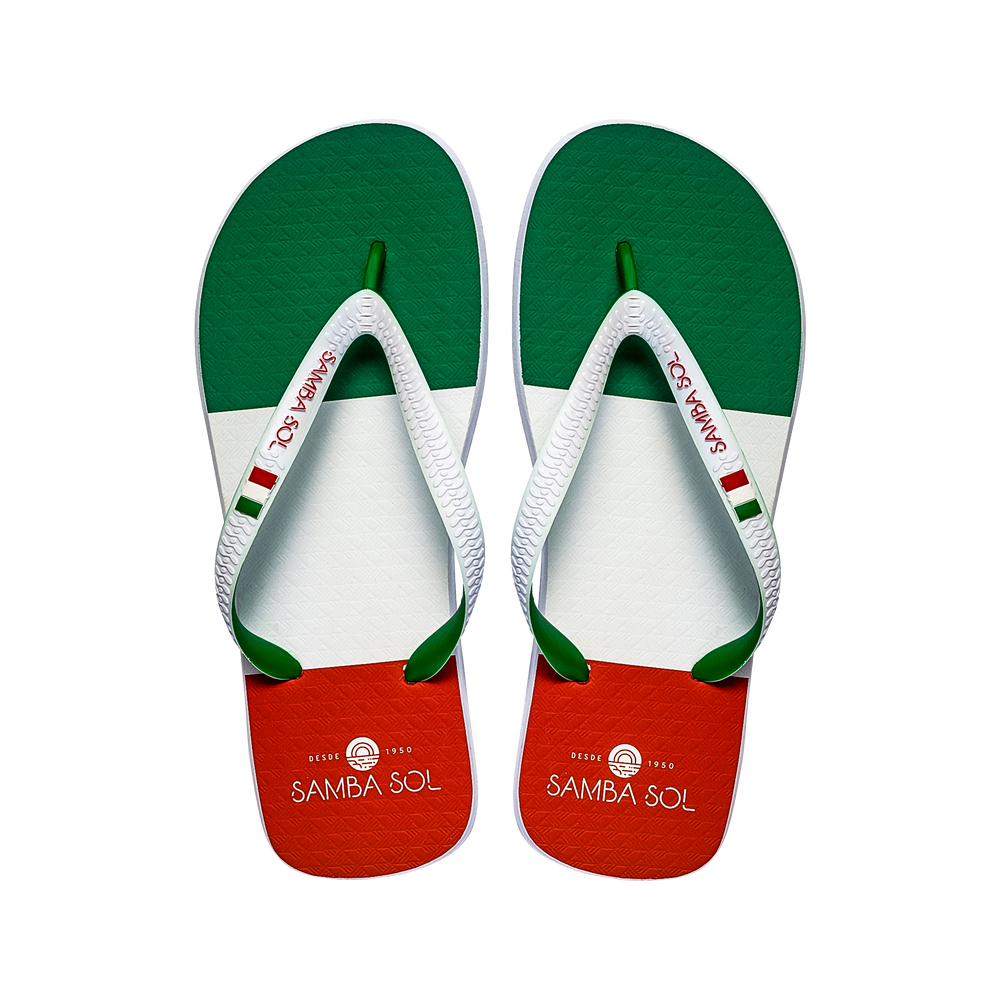 Samba Sol Men's Countries Collection Flip Flops - Italy