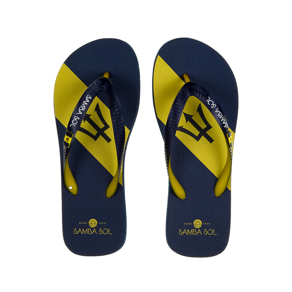 Samba Sol Men's Countries Collection Flip Flops - Barbados
