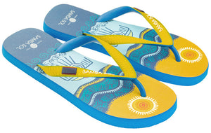 Samba Sol Men's Countries Collection Flip Flops - Belize-Samba Sol