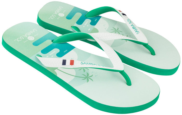 Men's Flag Collection Flip Flops - St Barths