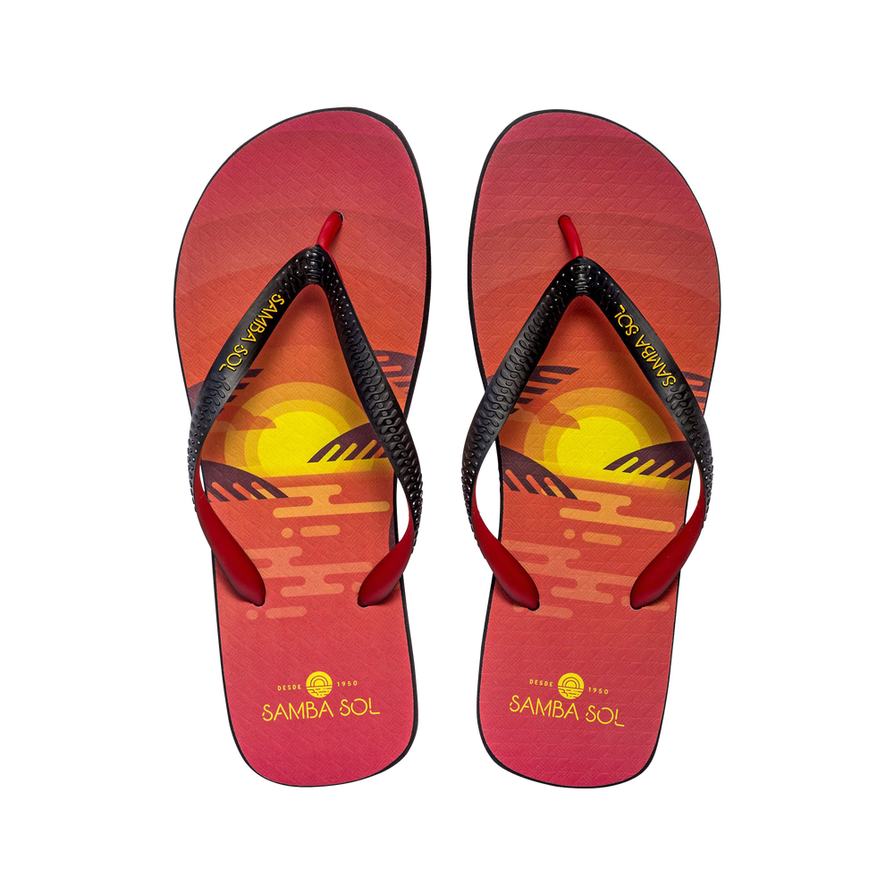 Samba Sol Men's Beach Collection Flip Flops - Sunset