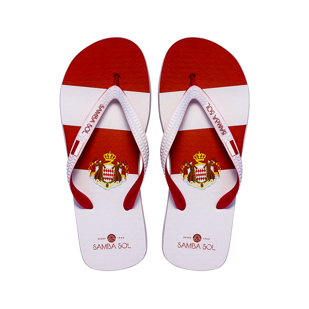 Samba Sol Men's Countries Collection Flip Flops - Monte Carlo